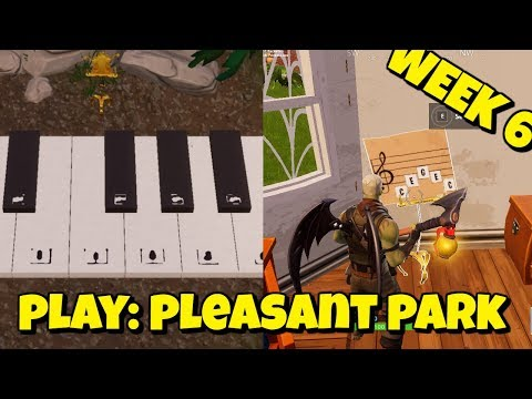 PLAY THE SHEET MUSIC AT PLEASANT PARK IN FORTNITE - OFFICIAL