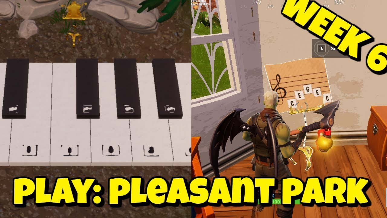 Play The Sheet Music At Pleasant Park In Fortnite Official