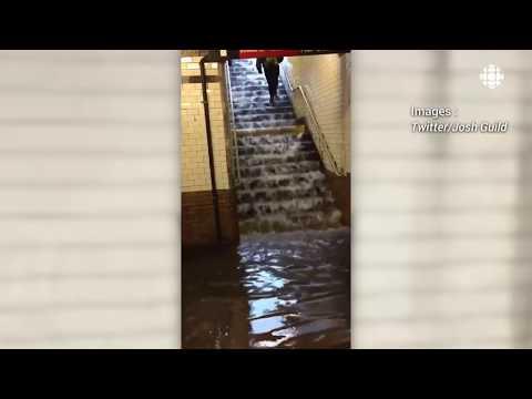 Le métro de New York inondé