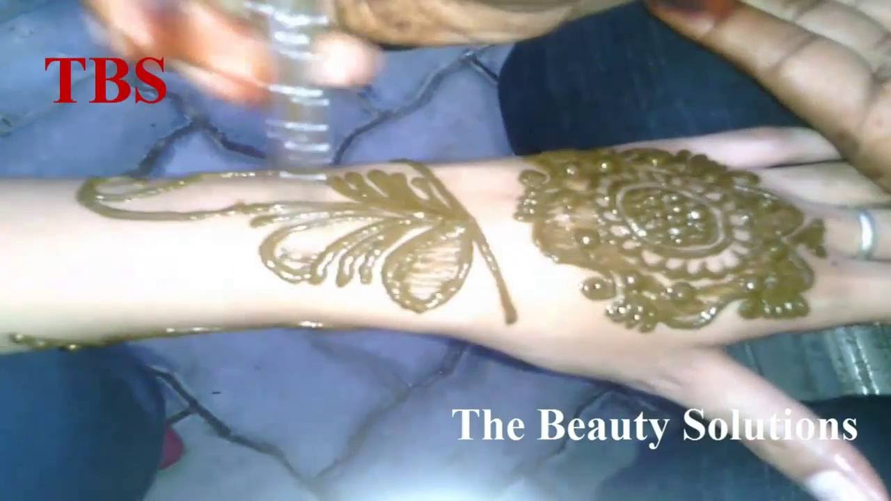 simple easy mehndi designs for back hands step by step