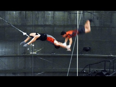 Cirque du Soleil La Nouba Trapeze Troupe Rehearsal for Special Performance, More Behind The Scenes