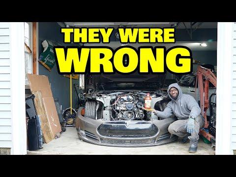 They said you can't fit a V8 in a Tesla, so we did it anyway