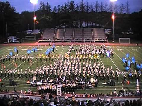 University of Massachusetts Amherst Marching Band at MICCA Final 2011