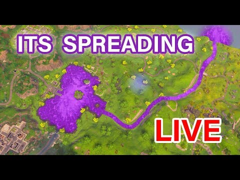 🔴 THE FORTNITE CUBE WATER IS SPREADING! - PLAYING SQUADS WITH SUBSCRIBERS