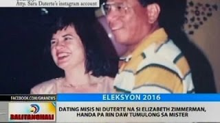 Dating misis ni Duterte na si Elizabeth Zimmerman, handa pa rin daw tumulong sa mister