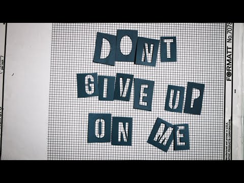 The Color Fred - Don't Give Up On Me  [OFFICIAL LYRIC VIDEO]