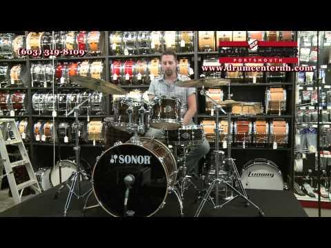 Sonor Ascent Beech 5 Piece Drum Set - Ebony Stripes