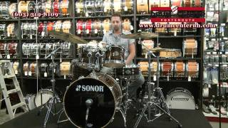 Sonor Ascent Beech 5 Piece Drum Set - Ebony Stripes