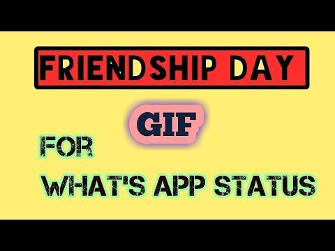 Friendship day GIF with music (WhatsApp status)