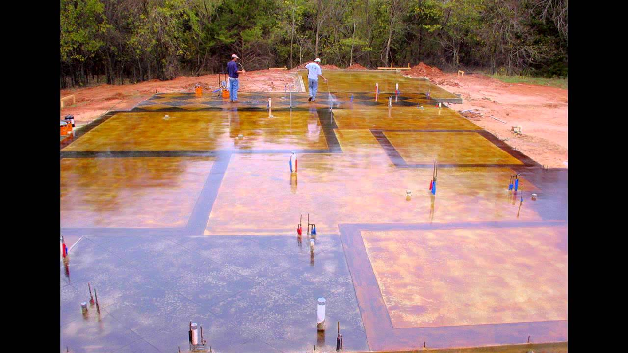 how to clean stained concrete driveway