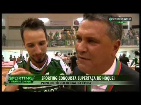 Hoquei Patins :: Sporting vence Super Taça - Reportagem Sporting TV de 2015/2016