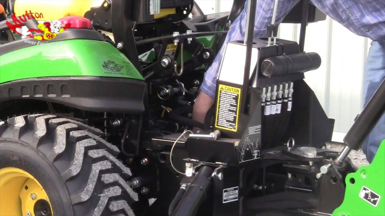 How to Remove a John Deere 260 Backhoe - YouTube