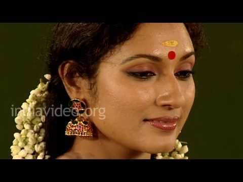Hair adornment with jasmine garland