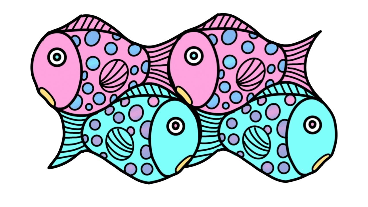 This is an image of Simplicity Fish Drawing Images