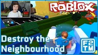 Roblox Destroy the Neighborhood (GOODBYE NEIGHBOR!!!)