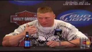 Brock Lesnar Apology UFC 100 Post Fight Press Conference w GSP amp Dana White