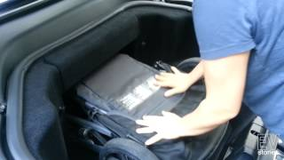 Tesla Model S as a Family Car - Fitting a Stroller in the Frunk - EVStories.com