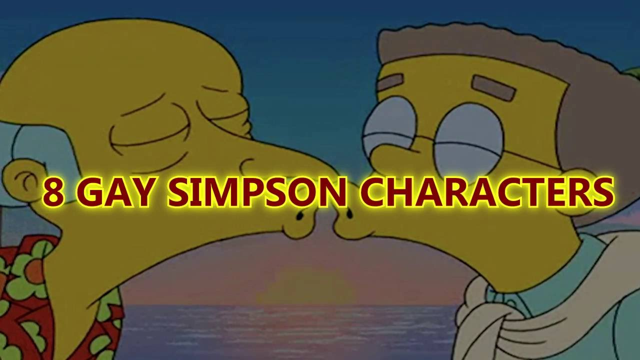 gay cartoons Simpsons