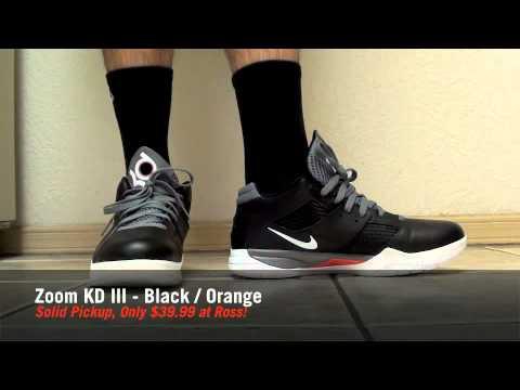 Mad Cheap Kicks Ep.2 - Nike Zoom KD III Black / Orange $39 at Ross