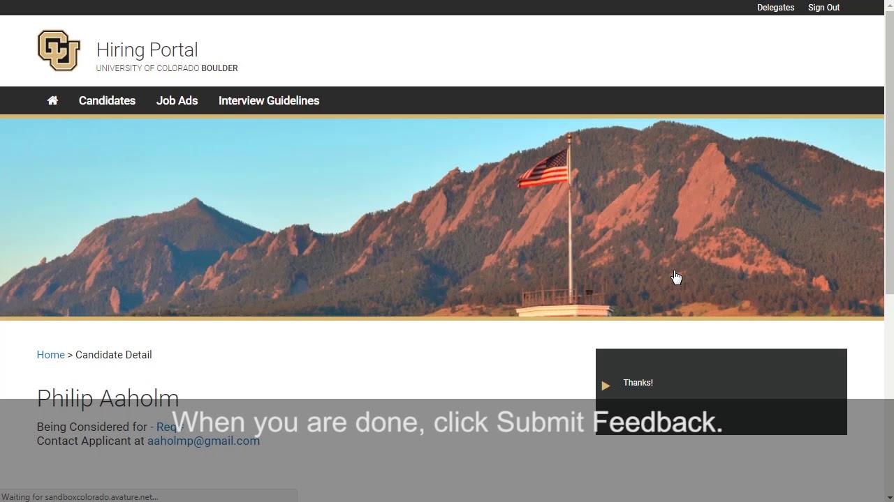 Hiring | Human Resources | University of Colorado Boulder
