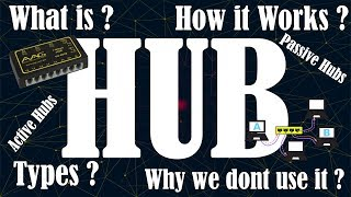 [Hindi] What is a HUB | How HUB's works | Why we do not use HUB's now | Advantages and Disadvantages