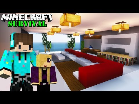 MEMBUAT BARBER SHOP AGAR ANAK SAYA MENJADI CANTIK ! Minecraft Survival #64
