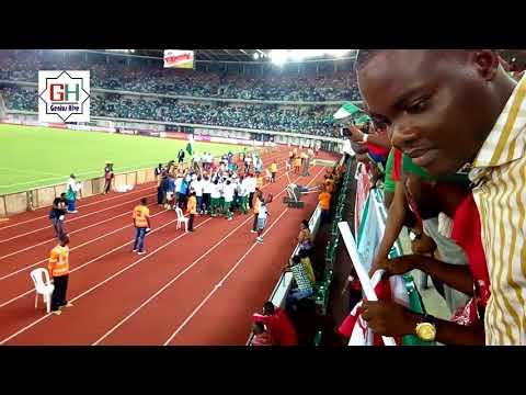 Akwa Ibom Int'l Stadium - Super Eagles Celebrates