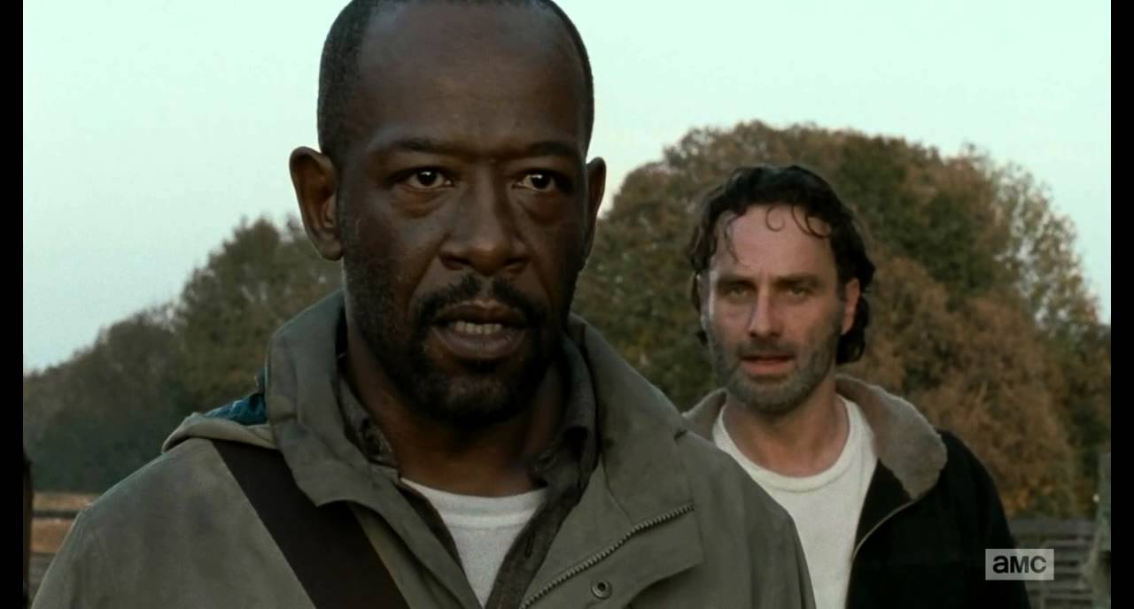 TWD S06E15 Morgan and Rick talk about life - YouTube