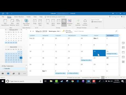 using-the-microsoft-outlook-calendar