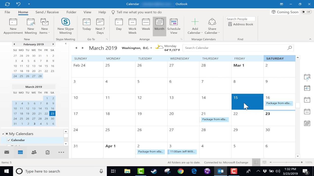 Calendrier 2019 Free.Using The Microsoft Outlook Calendar 2019 Tutorial