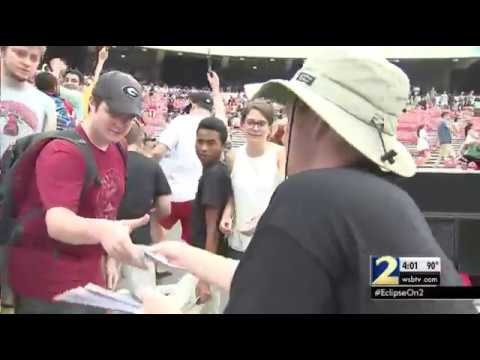 Nearly 20,000 pack Sanford Stadium in Athens for eclipse viewing