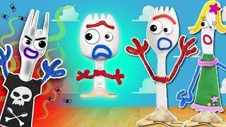 🥄 A los HIJOS de la Familia FORKY NO les GUSTA la BASURA ❌ Toy Story 4 Juguetes Fantásticos 🗑