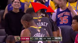 Fan Wearing Kevin Durant KNICKS Jersey At NBA Finals!