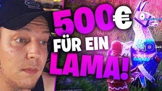 Das 500€ Lama in Fortnite (Wette) | SpontanaBlack