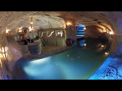 How to Build Private Underground Temple Tunnel House With Swimming Pool