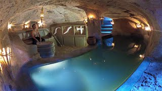 How to Build Priטate Underground Temple Tunnel House With Swimming Pool