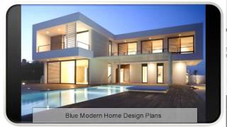 Blue Modern Home Design Plans