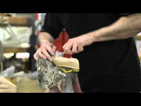 Making a full-sole leather ballet shoe, by Katz Dancewear
