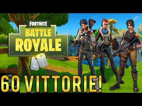 FORTNITE in LIVE! 63 VITTORIE! Con Wizard e KekkoBomba! 60 VITTORIE! | Fortnite Battle Royale