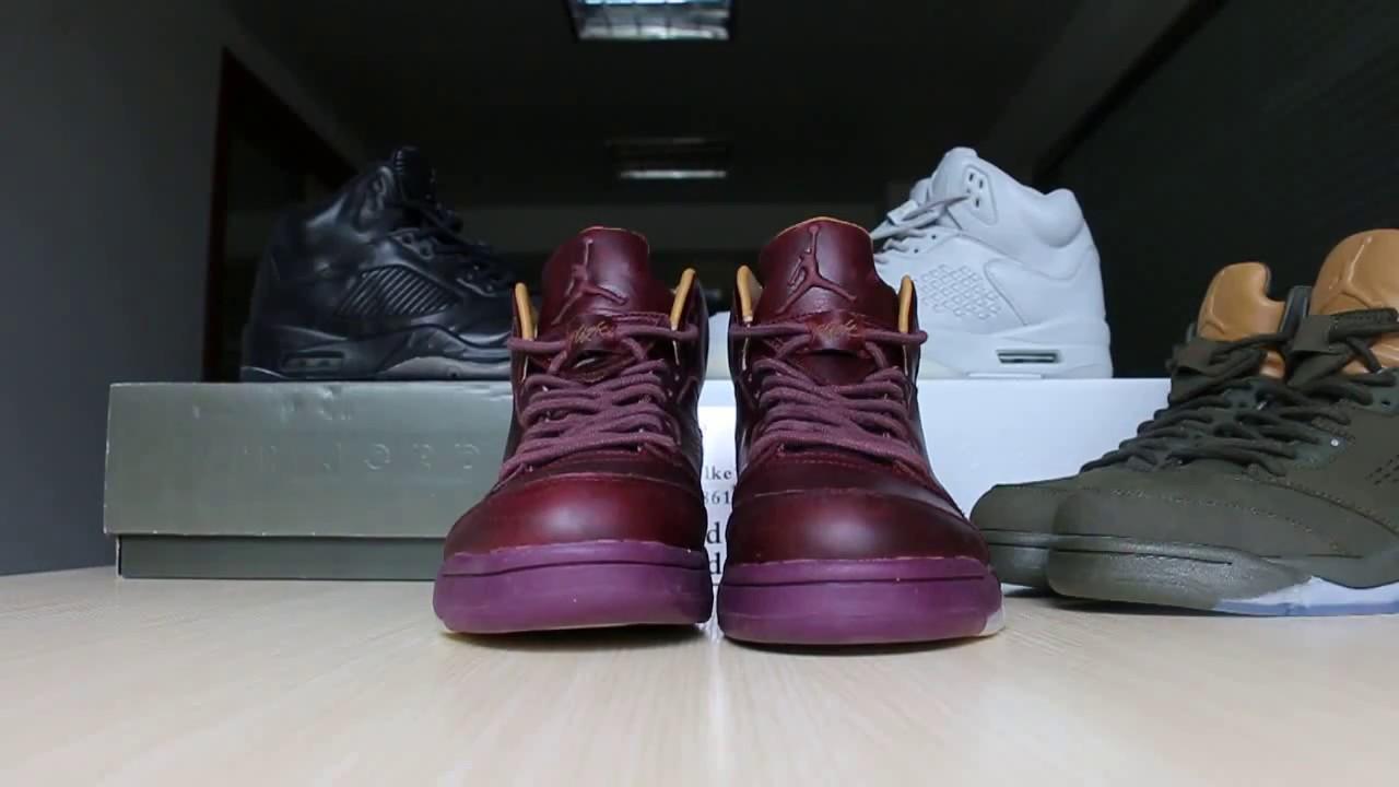 6f09e8865b2698 Air Jordan 5 bordeaux Heiress wheat Black First Review - YouTube