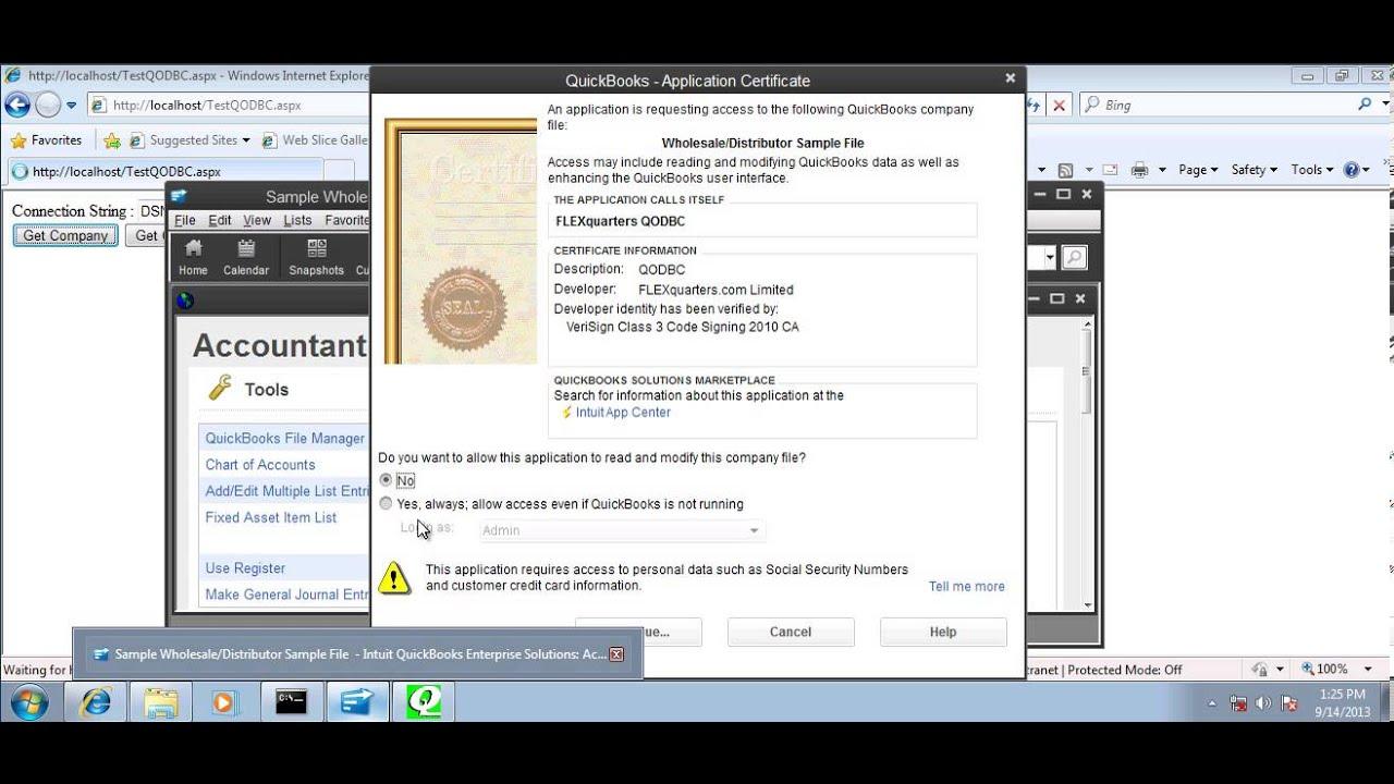 How to build QuickBooks IIS Web application using QODBC Driver and  Microsoft ASP NET