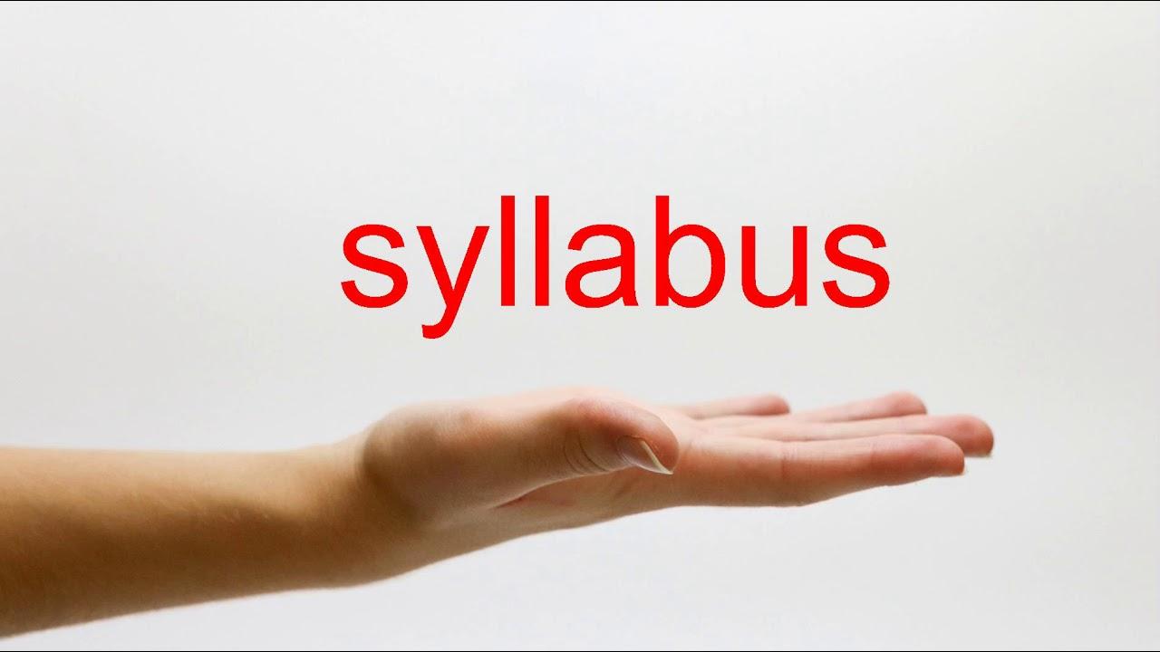 How to Pronounce syllabus - American English - YouTube