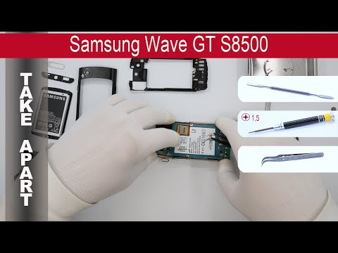 How to disassemble 📱 Samsung Wave GT-S8500, Take Apart, Tutorial