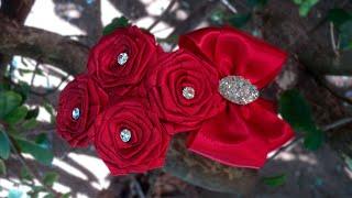 Tiara com rosas de fita – DIY – PAP Letartes