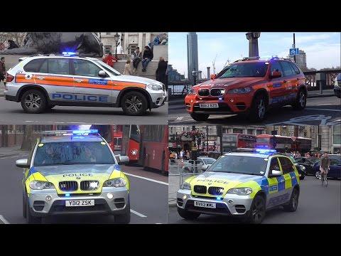 Metropolitan Police Armed Response Vehicles Responding (All liveries)