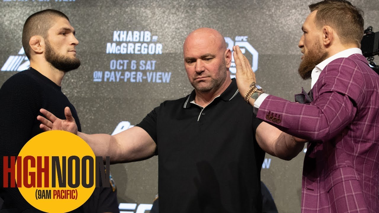 Bomani & Pablo react to wild Conor McGregor-Khabib Nurmagomedov press conference | High Noon | ESPN