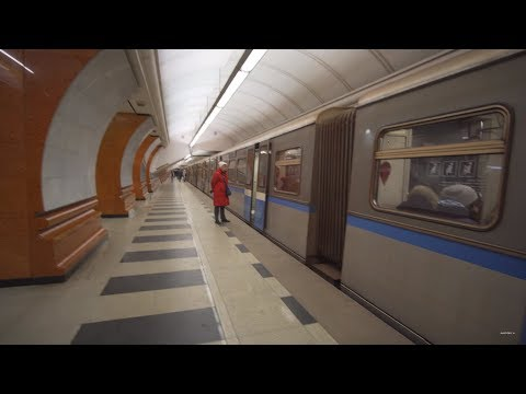 Russia, Moscow, Metro Ride From Парк Победы To Охотный ряд +walk To Красная Площадь
