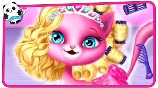 Cat Hair Salon Birthday Party - Kitty Haircut Care Games for Kids and Children