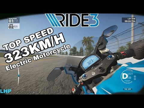 Ride 3 - Lightning LS 218 | Electric Bike 323 KM/H | Gameplay (PS4 / PC)