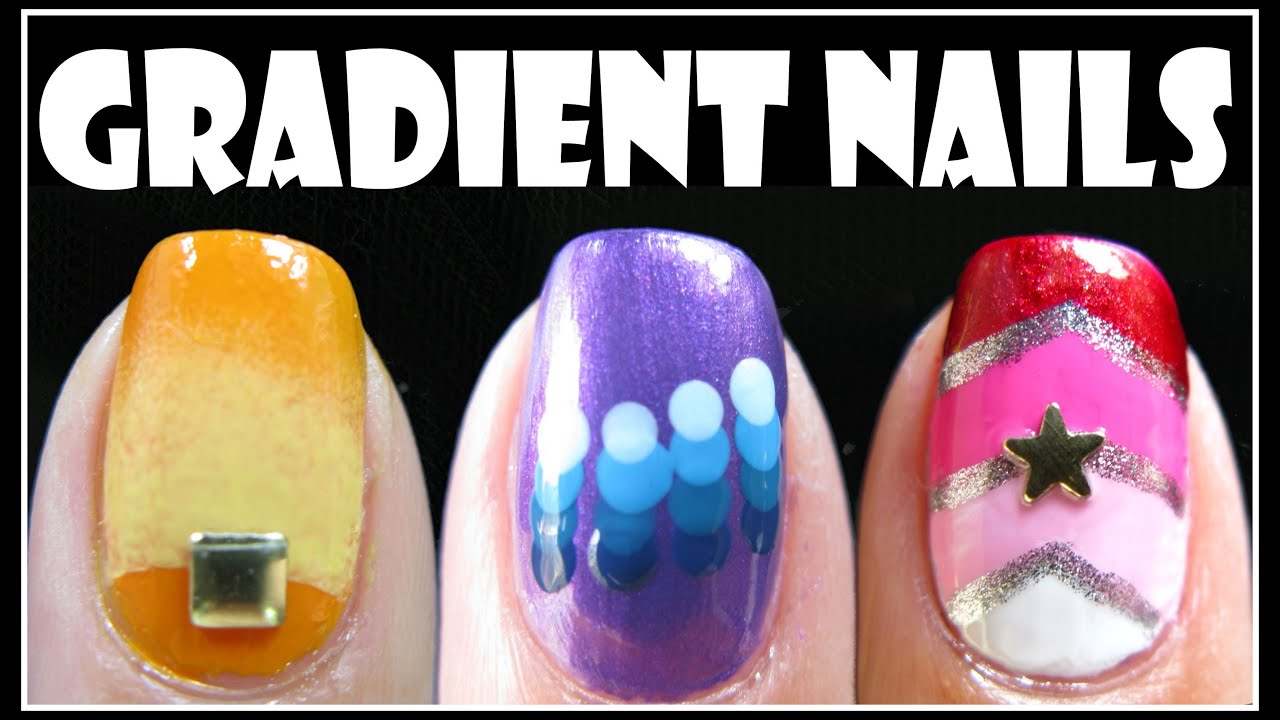 Gradient nail art designs fading ombre nails tutorial how to gradient nail art designs fading ombre nails tutorial how to easy beginner meliney youtube prinsesfo Gallery